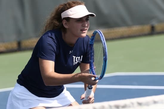 Liya Davidov studies journalism and professional writing at the College of New Jersey, where she also plays first singles for the school's tennis team.