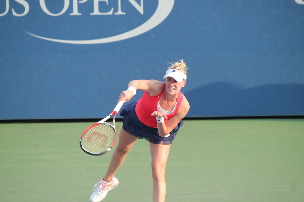 American Alison Riske advanced to the first Grand Slam quarterfinal of her career on Monday, upending world number one Ashleigh Barty 3-6, 6-2, 6-3 to kick off Manic Monday at the All-England Club in London, England.
