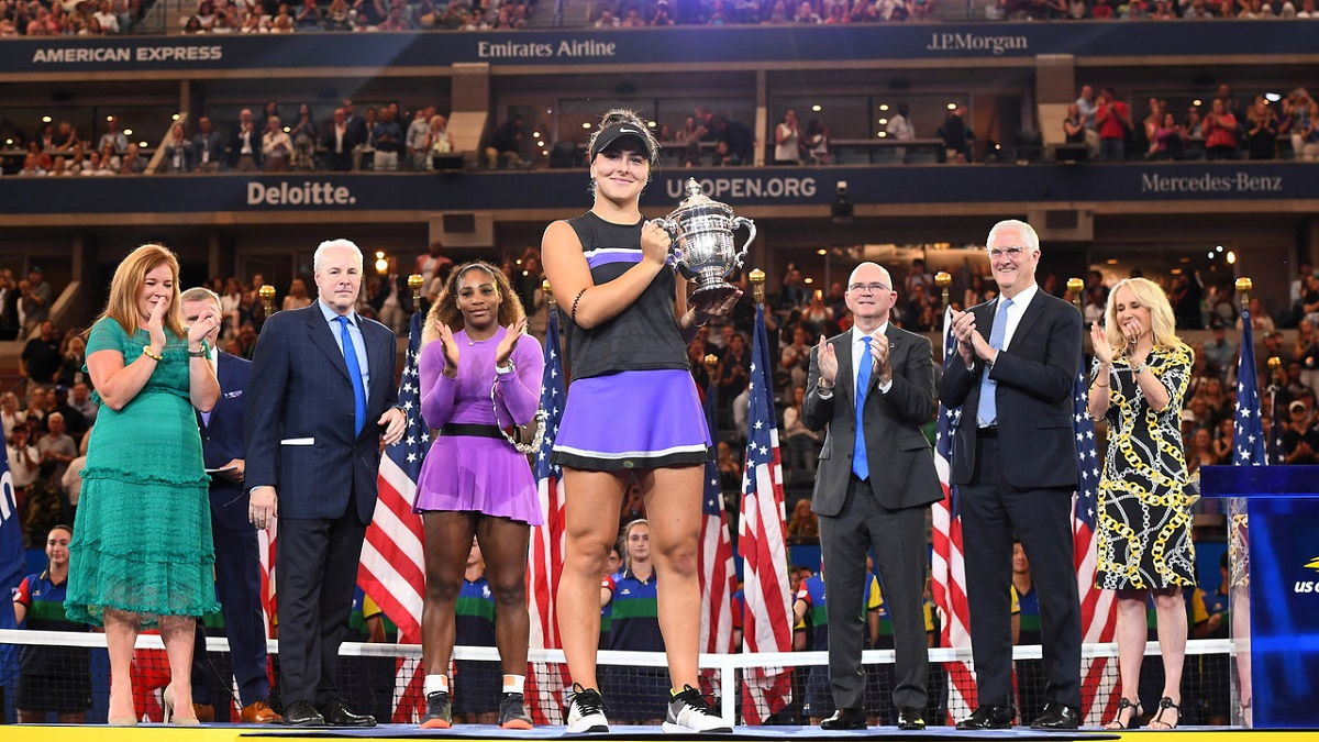 Bianca Andreescu hoisted the 2019 US Open trophy. It remains to be seen if she will have a chance to defend her title in 2020.
