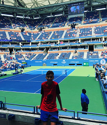 Adrian Avanesov at the USTA Billie Jean King National Tennis Center for the U.S. Open.