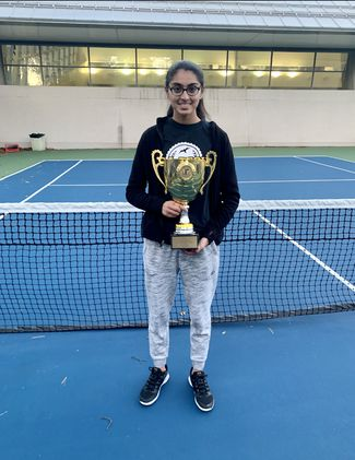 Miriam Aziz won back-to-back PSAL singles titles to conclude her high school career. Aziz was also named the recipient of this year's Wingate Award.