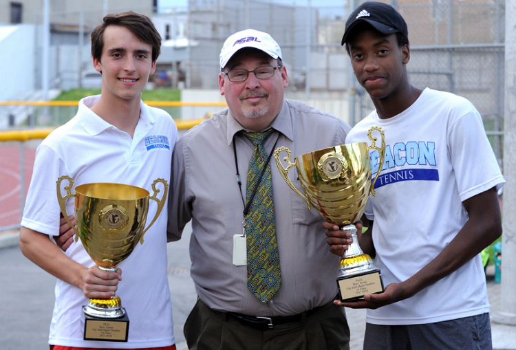 Beacon's Donovan Brown and Julian Szuper teamed up to win the doubles title at the PSAL Individual Championships earlier this spring.