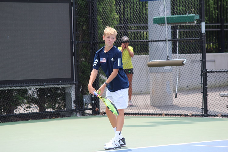 Cooper Williams gets ready to serve during last summer's Big Apple International Cup.