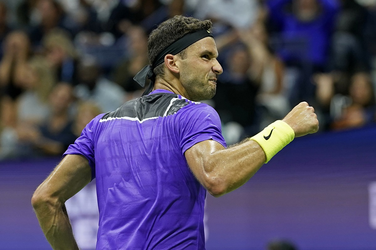 Grigor Dimitrov advanced to the US Open semifinals on Tuesday night after beating Roger Federer in five sets.