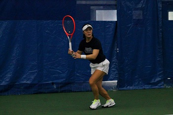 Kristie Ahn trains at Cary Leeds Center when she isn't traveling on the pro tour.