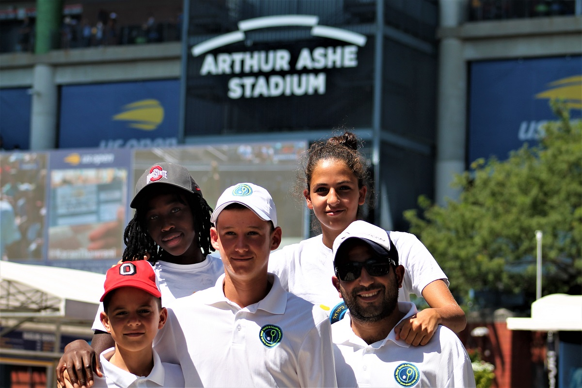 The Israel Tennis & Education Center had an Exhibition Tour this summer, which included a stop at the 2019 US Open on the first day of the tournament's main draw.