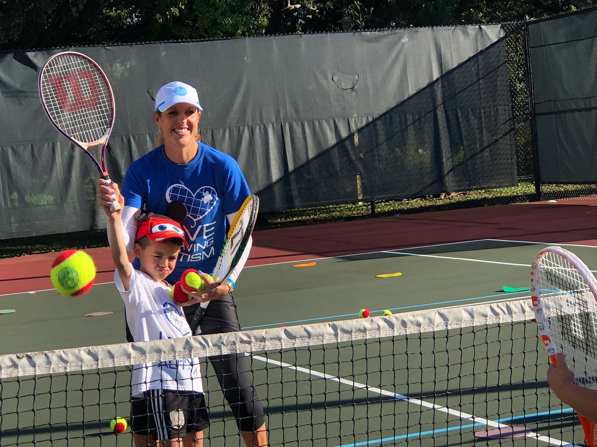 Lisa Pugliese-LaCroix founded Love Serving Autismin 2016, and has since used tennis to help expand life skills for both kids and adults with special needs.