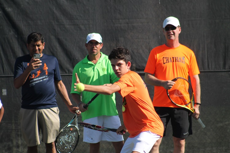 The New York Open continued to hold its Skills Challenge competition as players battled for prizes at Centercourt Chatham during the Saint Barnabas Medical Center Championships.