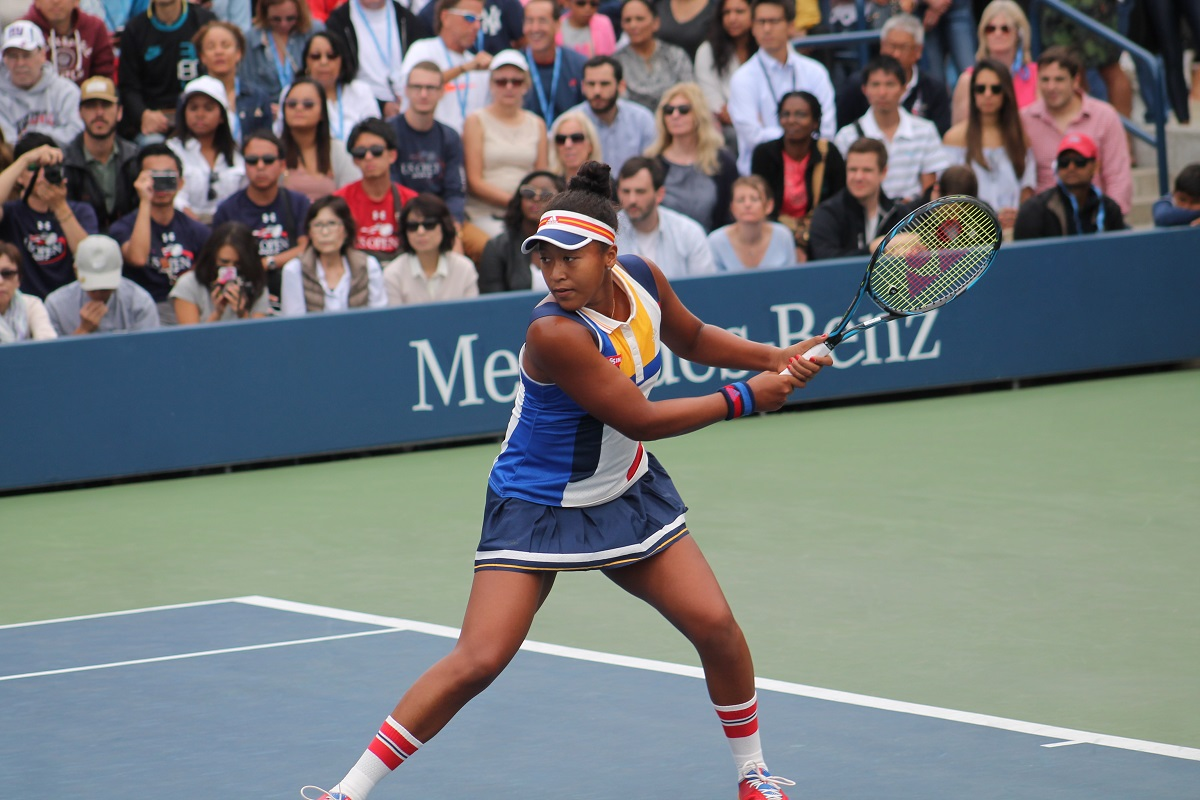 Naomi Osaka was defeated by Belinda Bencic at the BNP Paribas Open in Indian Wells, Calif. on Tuesday.