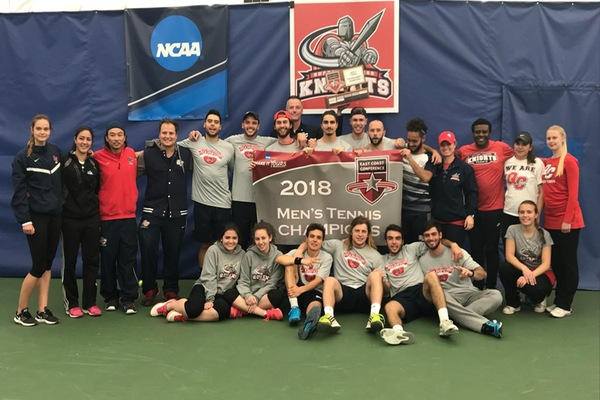 The Queens College men's tennis team captured the East Coast Conference (ECC) championship for the second straight year by defeated the New York Institute of Technology this past weekend.