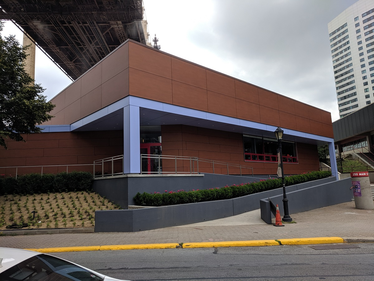 The new look exterior of Roosevelt Island Racquet Club.