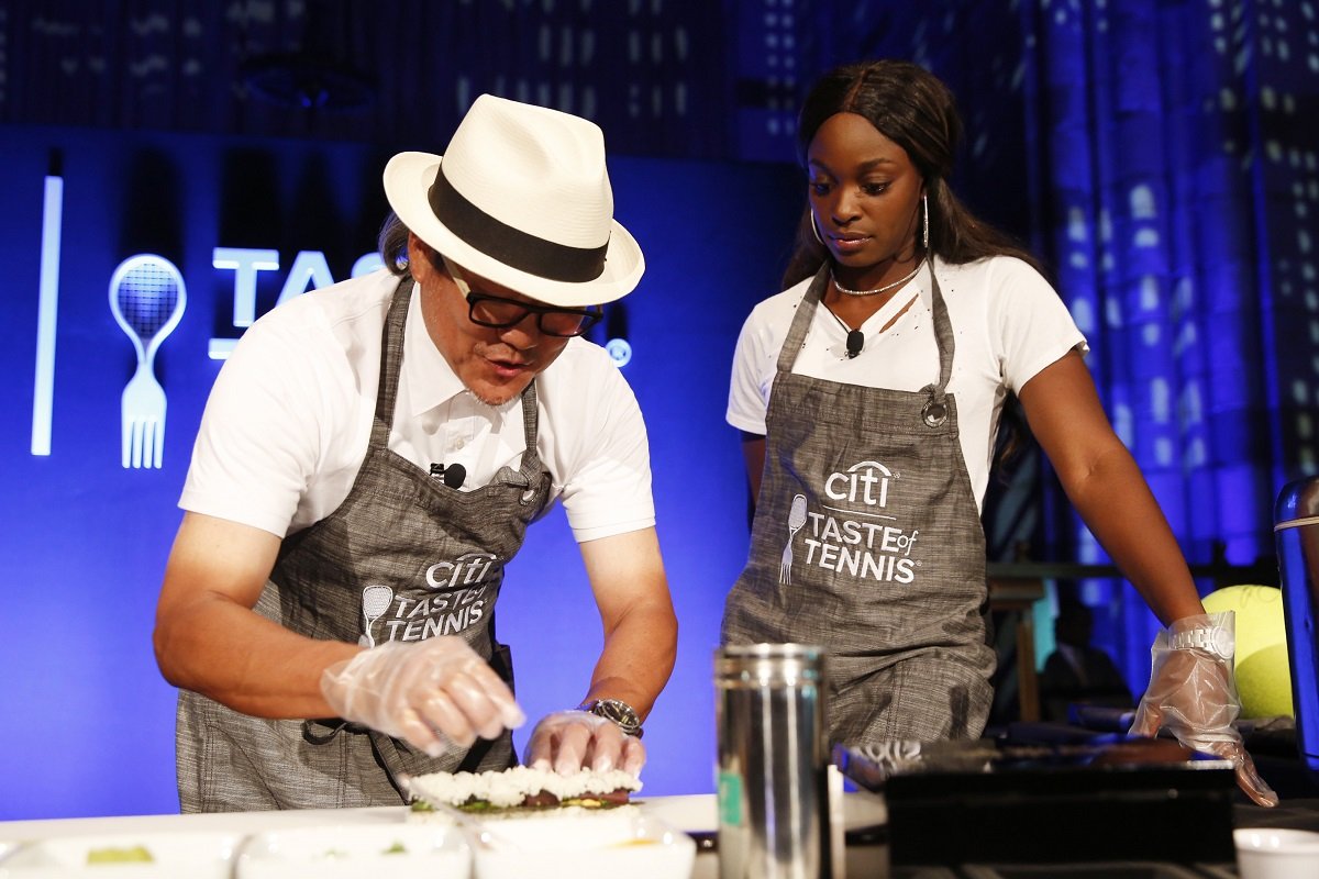 Sloane Stephens gets a cooking demonstration during the 2018 Taste of Tennis event. The former US Open champion will be one of the many special guests on August 22 for 2019 Citi Taste of Tennis.