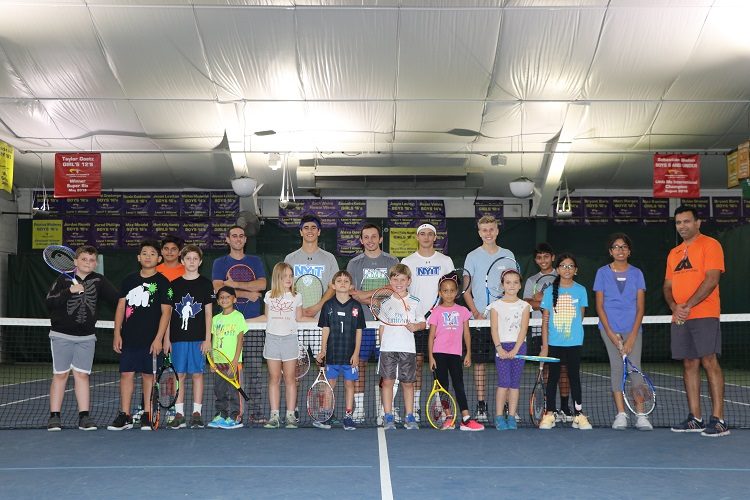 Kids ages seven through 12 took part in the two-hour clinic as a way to get introduced to the sport of tennis.