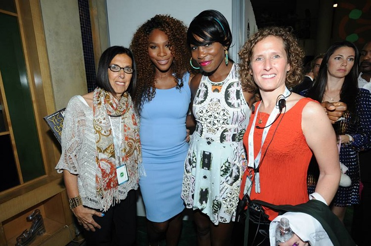 Judi Lerner, Serena Williams, Venus Williams and Penny Lerner at Citi Taste of Tennis. The event returns for its 20th year on August 22. Photo courtesy of AYS World.