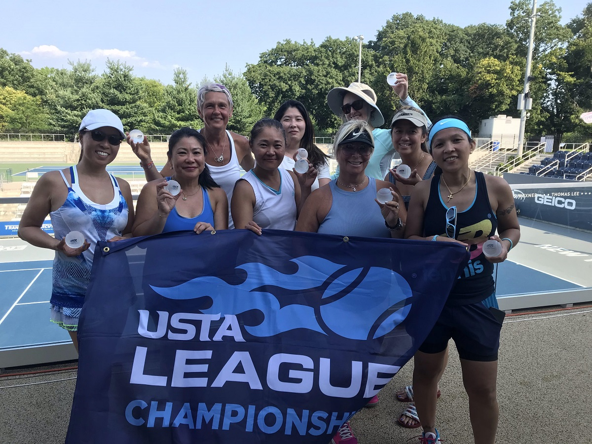The Women's 3.5 team captained by Hazel Zaldivar and Christine Pon are heading up to the USTA Eastern Sectionals to represent the Metro Region.