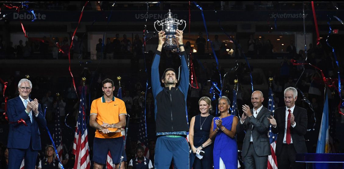 The 2018 summer has belonged to Novak Djokovic, and he capped it off with a defiant win in the U.S. Open final on Sunday, soundly beating third-seed Juan Martin del Potro 6-3, 7-6(4), 6-3 to win his 14th Grand Slam title.