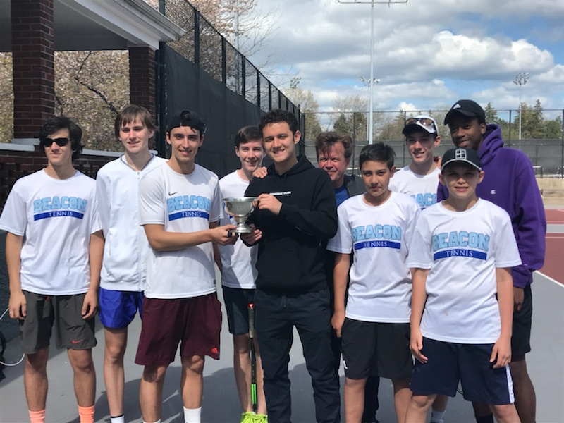 The Beacon Blue Demons captured the sixth annual Jim San Marco Boys High School Tennis Invitational this past weekend, defeating defending champions Horace Greeley 4-2 in the final at the Fordham Preparatory School.