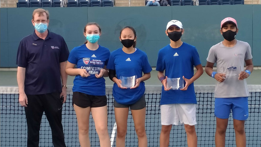 The team from the National Tennis Center won the Metro Region's 14U Advanced Championship.