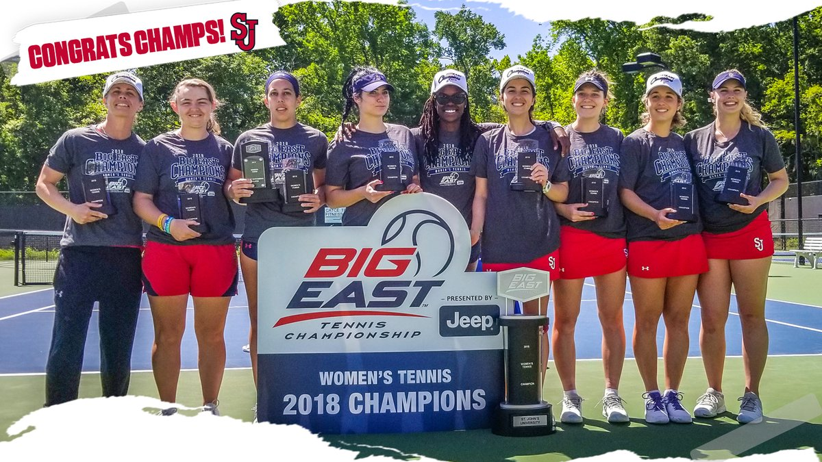 For the first time in program history, the St. John's women's tennis team is the winner of the Big East Championships.