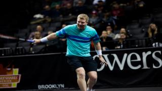 Jim Courier competes in the PowerShares Series QQQ at the Barclays Center last year.