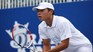 Brandon Nakashima competes during the 2020 World TeamTennis season. (Photo Credit: Ryan Loco/World TeamTennis)