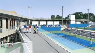 The Cary Leeds Center for Tennis & Learning houses a two-story, 12,000-square foot clubhouse, educational spaces, and access to 20 courts (10 bubbled for winter/indoor use) and two stadium courts that seat up to 800 spectators