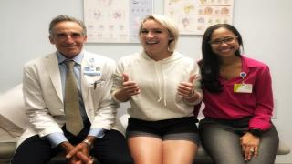 Ioonna Felix (right) with multiple-time Slam Champion Bethanie Mattek-Sands (middle) and Dr. David Altchek (left) at the Hospital for Special Surgery in New York.