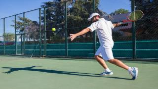Many players tend to try to hit all of their shots away from the opponent during a tennis match.  Try to use this idea instead: keep your shots deep and towards the middle at the beginning of a point.