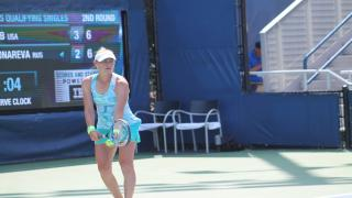 Vera Zvonareva serves during a 2017 U.S. Open qualifying draw match. Serve clocks, which were instituted for the qualifying draw last year, will now be in all U.S. Open main draw matches.