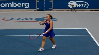 Varvara Lepchenko celebrates a point during the Women's Singles flight, but the New York Empire would fall to the Philadelphia Freedoms on Tuesday night.