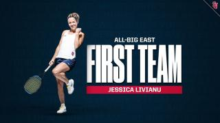 Jessica Livianu was named to the All-BIG EAST First Team for the fourth time in her career.