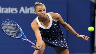 Karolina Pliskova is one of the last eight remaining in the U.S. Open for a third straight year after defeating Australia's Ashleigh Barty 6-4, 6-4 on Sunday afternoon.