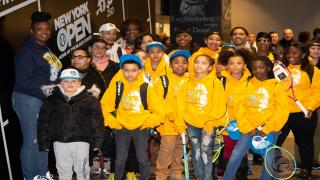 In early February, more than 2,000 students from the Rochester City School District took part in a tennis workshop to commemorate Arthur Ashe Legacy Lives Day.