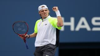 Canada's Denis Shapovalov advanced to the first Grand Slam semifinal of his career on Wednesday. He will play top-seed Novak Djokovic next.