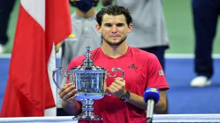 Dominic Thiem won his first career Grand Slam at the U.S. Open earlier this fall.