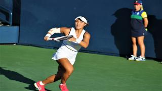 Kristie Ahn defeated Jelena Ostapenko on Saturday to claim one of the final 16 spots at the 2019 US Open.