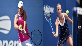 Ashleigh Barty and Karolina Pliskova will square off with the Wimbledon title on the line on Saturday.