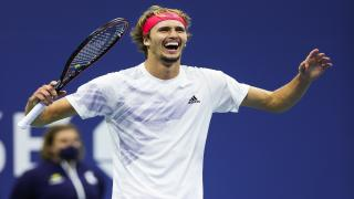 Alexander Zverev, pictured here at the 2020 U.S. Open, defeated Novak Djokovic on Friday to advance to the Olympics Gold Medal match.